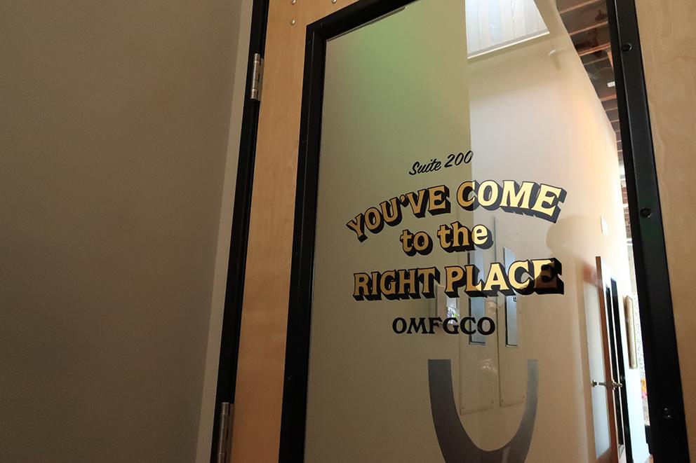 そしてUPLIFTツアーでも毎度おなじみのOMFG.co。エースホテルやスタンプタウンコーヒなど、ポートランドでもとりわけCoolなスポットの多くのブランディングを手がけています。