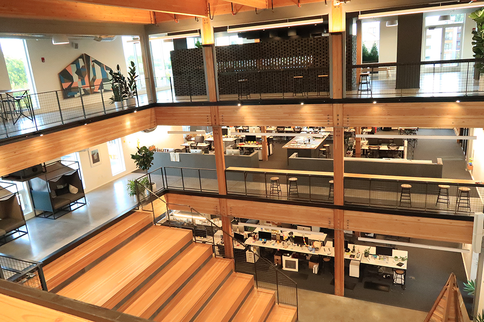 We also had a great opportunity to visit Instrument, one of Portland's leading digital media creative studios. They recently moved to this new building, and their new space is amazing.