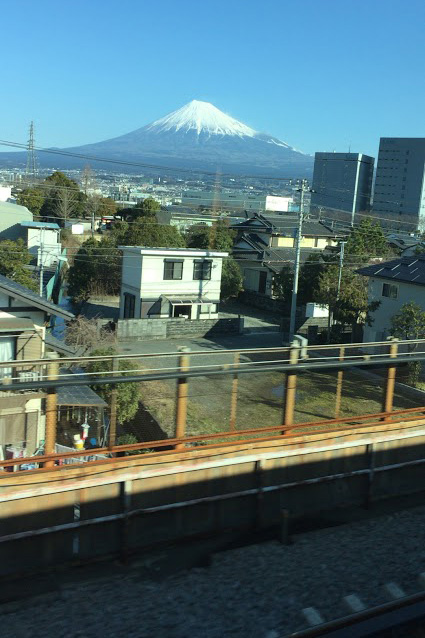 Mt Fuji from Shinkansen, Bullet Train from Tokyo to Kyoto