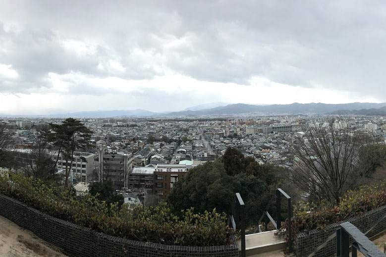 View of the city from Kyoto University of Art and Design