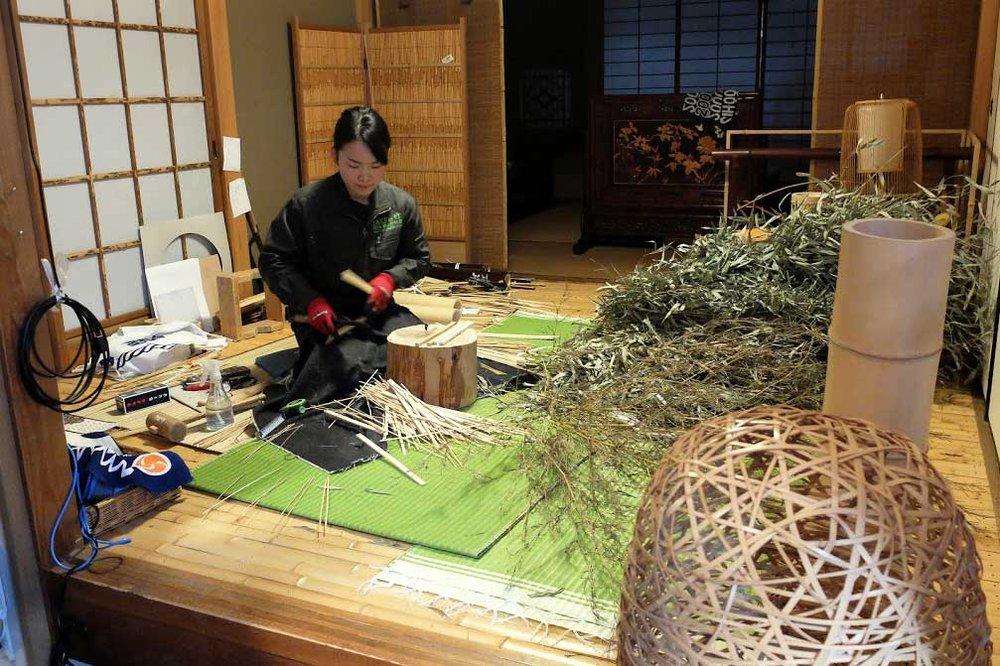 Yokoyama Bamboo factory tour
