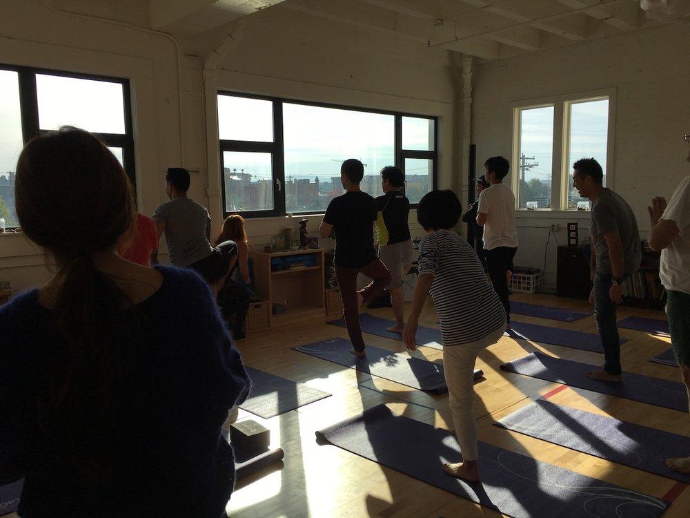 Jill Knouse, Morning Yoga workshop