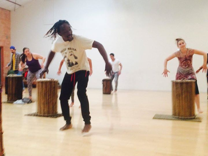 Another great Dundun Dance teacher, Soriba, who teaches at the Railyard Performance Center