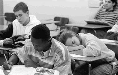 Estudiante aburrido
