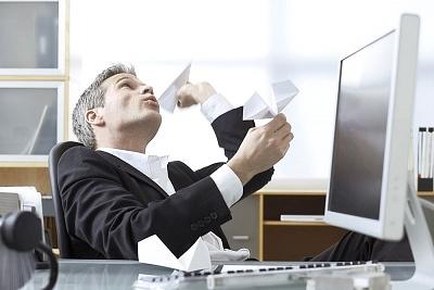 ejecutivo aviones papel