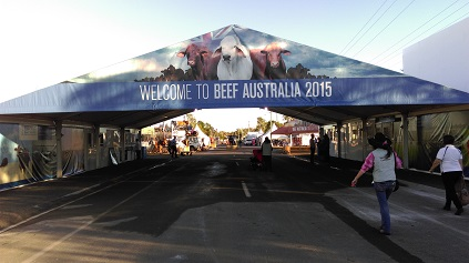 Main Entrance to Beef 2015 Rockhampton