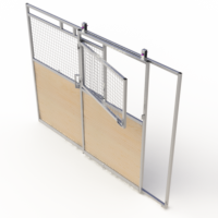 Split slide door access panel