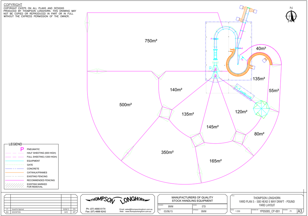 Designed yard plan