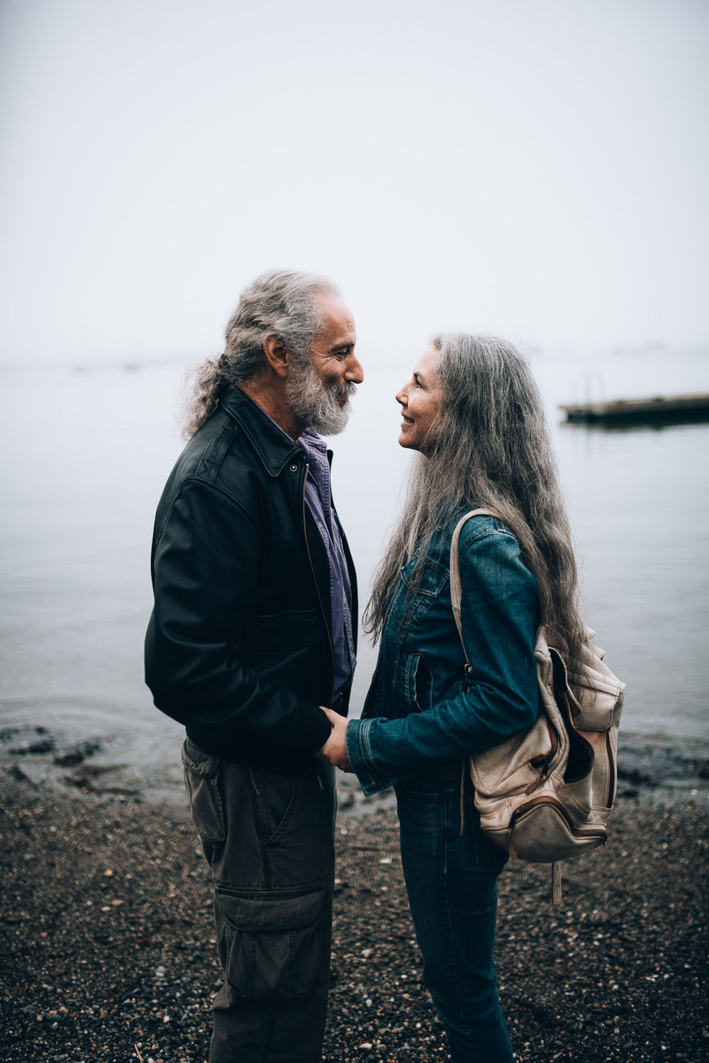 A couple who has been married for over 30 years sharing an intimate look at Laite Beach in Camden, Maine.