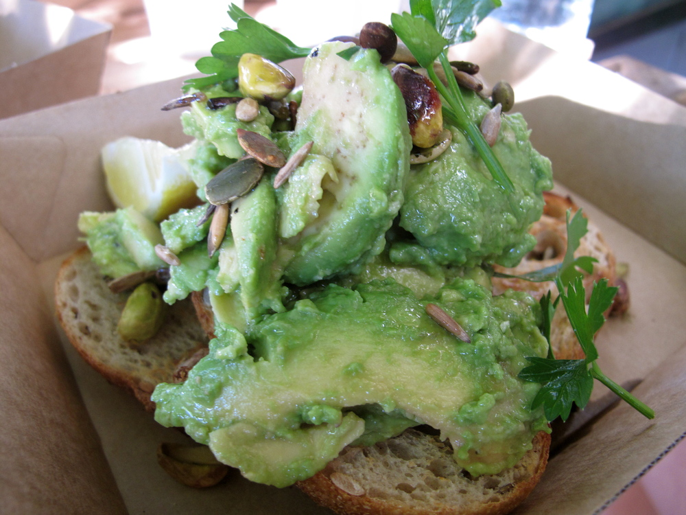 ◆ Avocado smash at the Paddock Bakery
