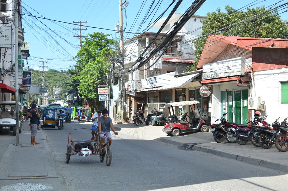 Main street near White Beach, Boracay.