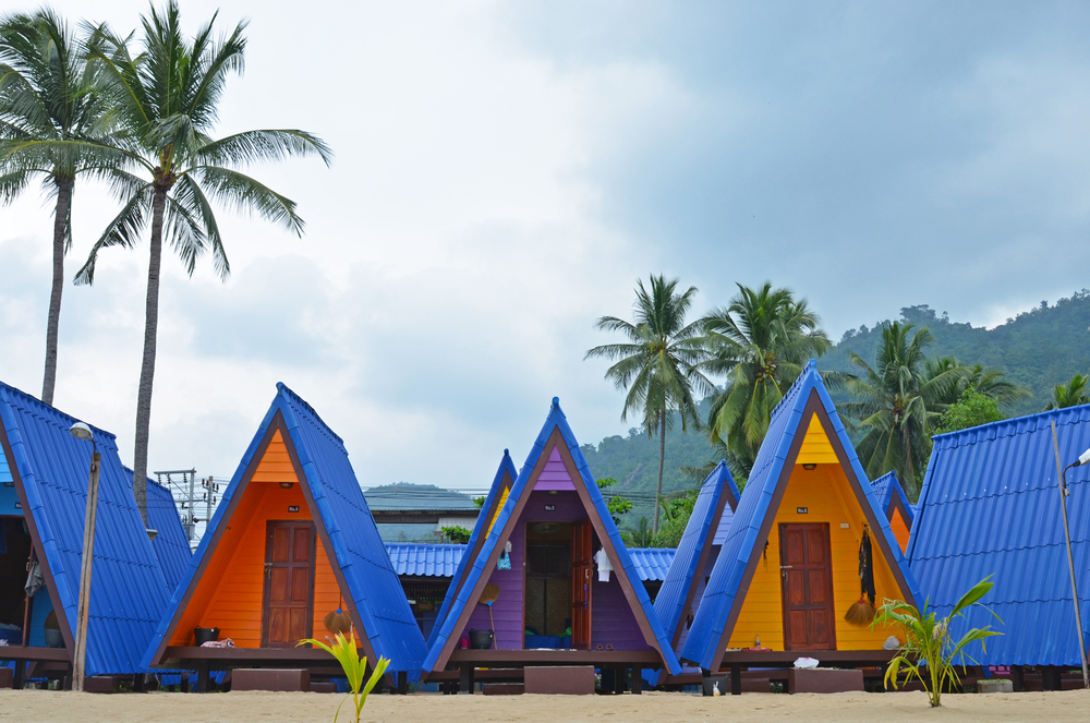 New Hut Bungalows  on Lamai Beach.