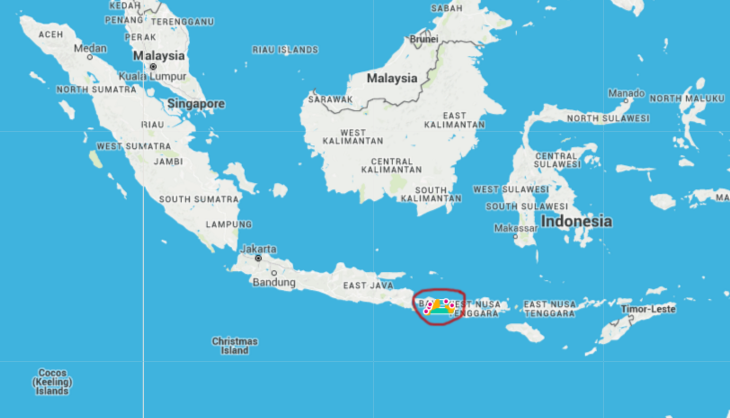 A lot of islands make up Indonesia and we only covered the area circled in red!