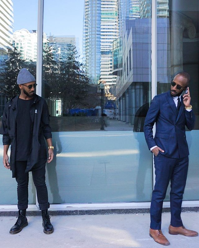 I'm curious... Would you rather only wear the latest streetstyle apparel, or only where tailored suits every day for a year?  Annnndddd comment... 👇🏾