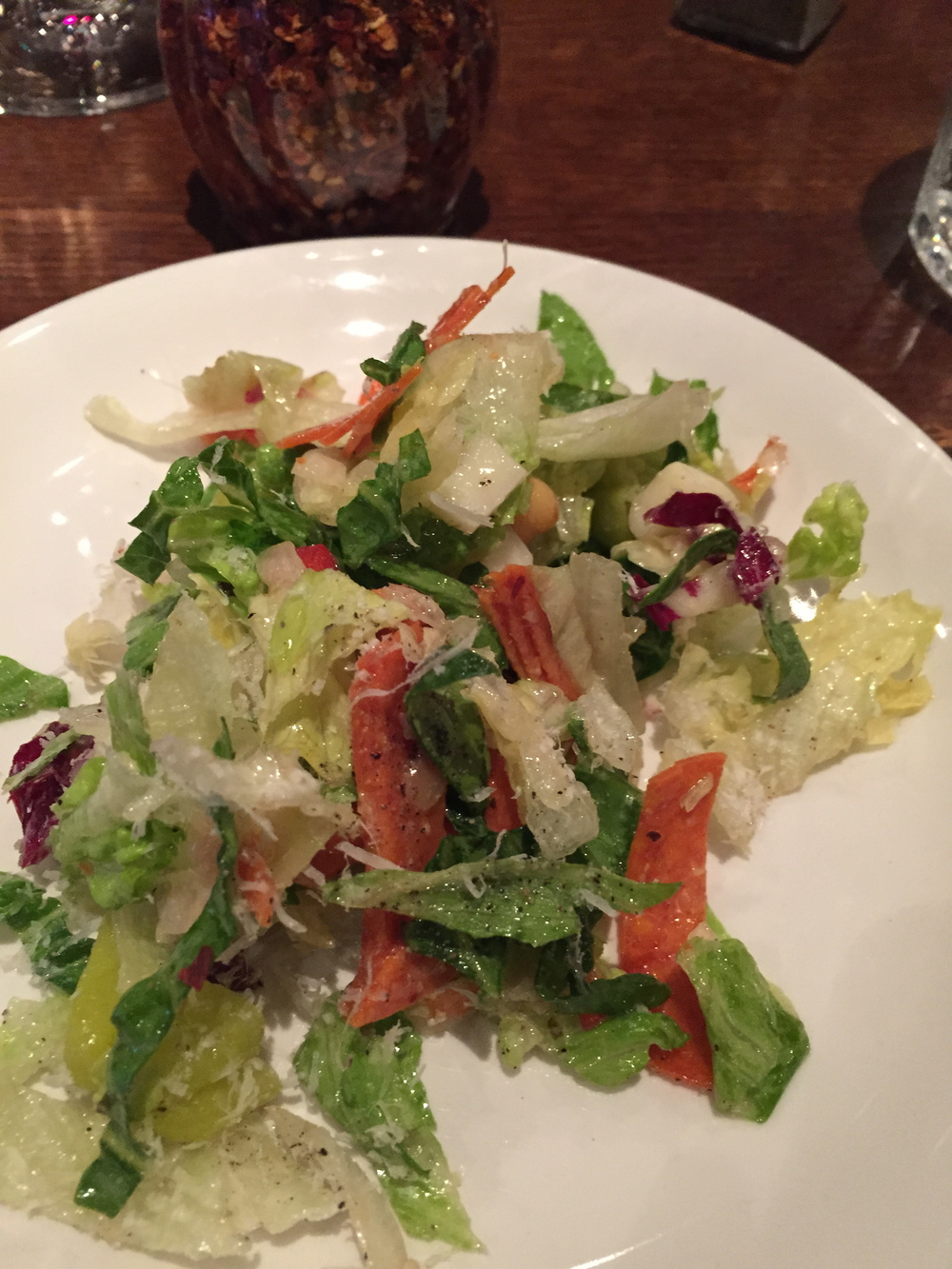 This was the chopped salad. Really good also
