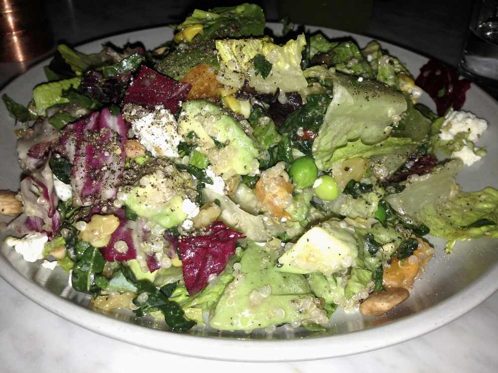 I really enjoyed this salad.  Anytime you have avocado, almonds, and goat cheese on a salad, I'm SOLD!