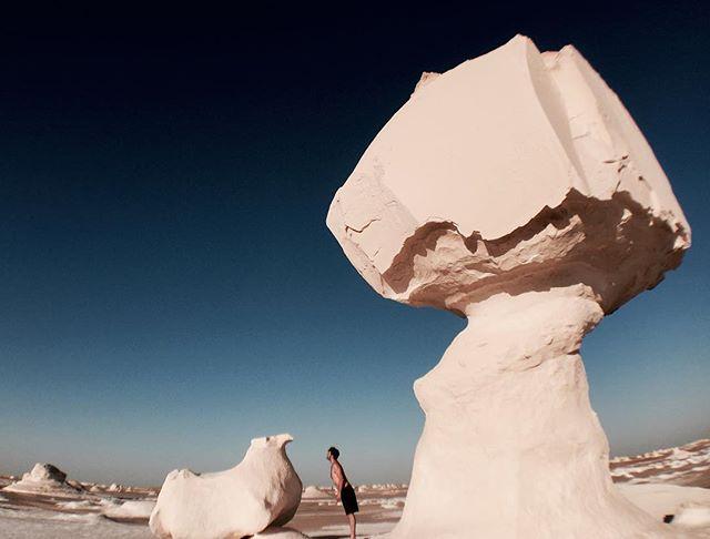 White Desert.  Egypt.  #whitedesert #sandsculpture #chalk #fatpigeon #egypt #desert #travel #sahara
