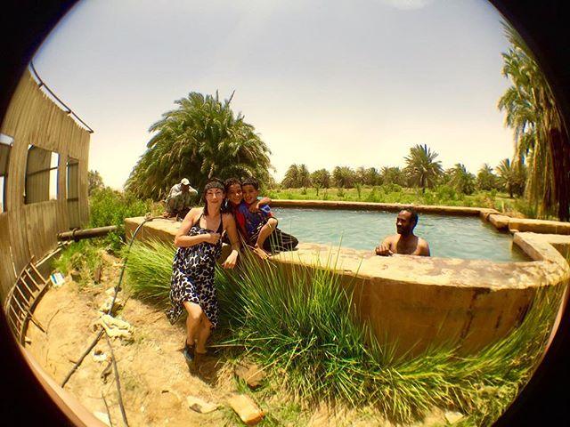 Lauren and her crew.  Bahariya Oasis.  Egypt.  #Egypt #bahariya #westerndeserttours #travel #desert #sahara #oasis #africa #sunshine #summer