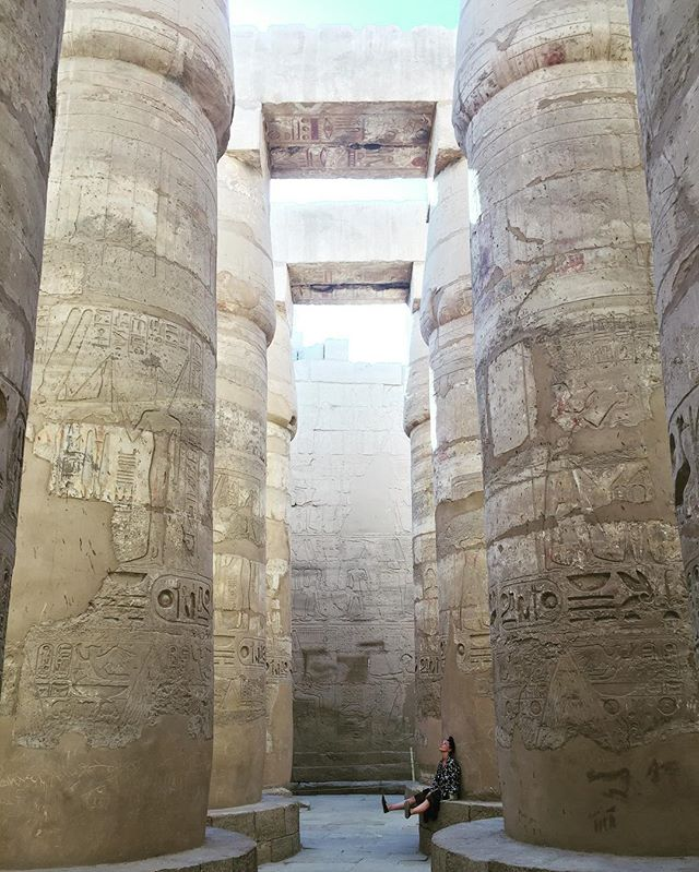 Karnak Temple.  Luxor.  Egypt.  #Luxor #karnak #temple #pillars #giant #ancient #ruins #travel