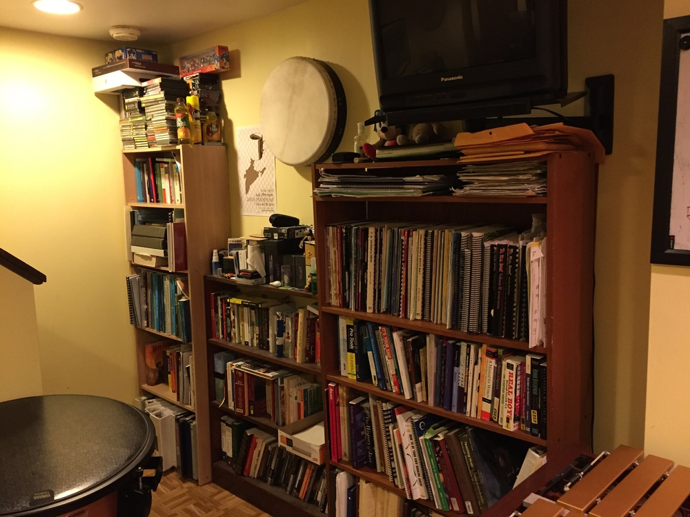 Studio library of recordings and books