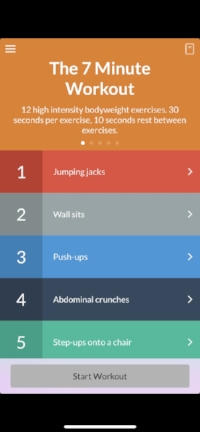 The 7 Minute Workout app.