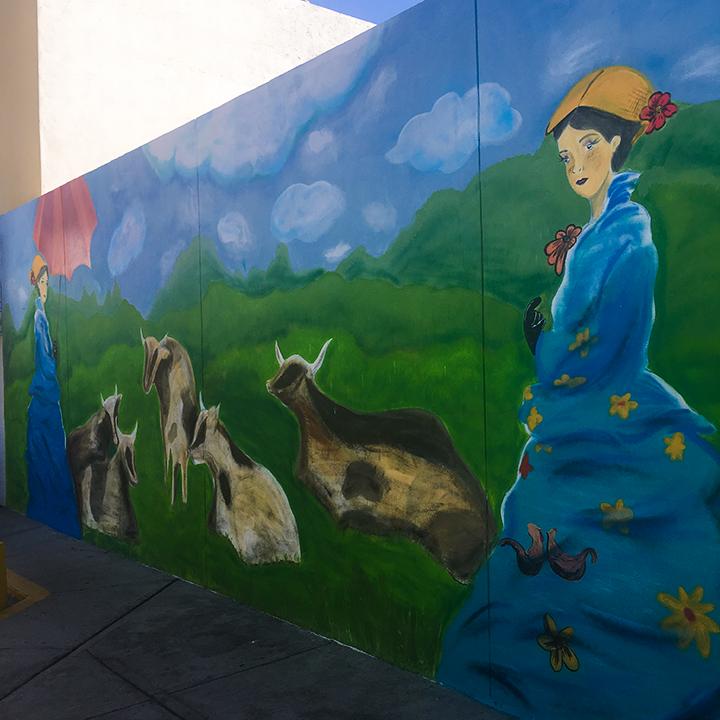 "Detalle del mural ""Origen Natural"""