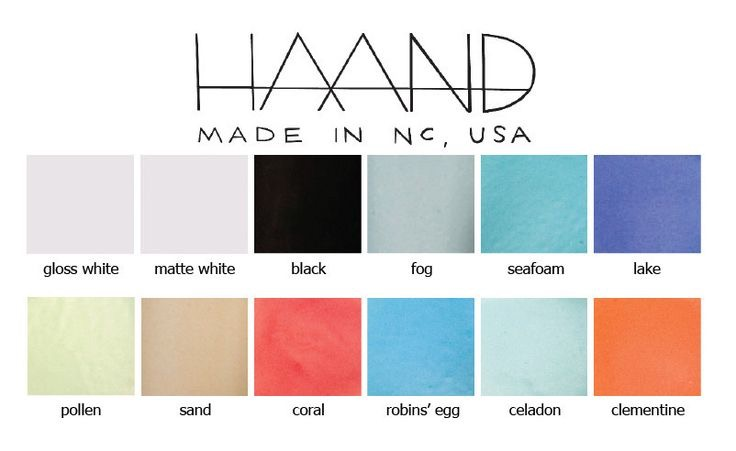 Available colors. Image courtesy of Haand.