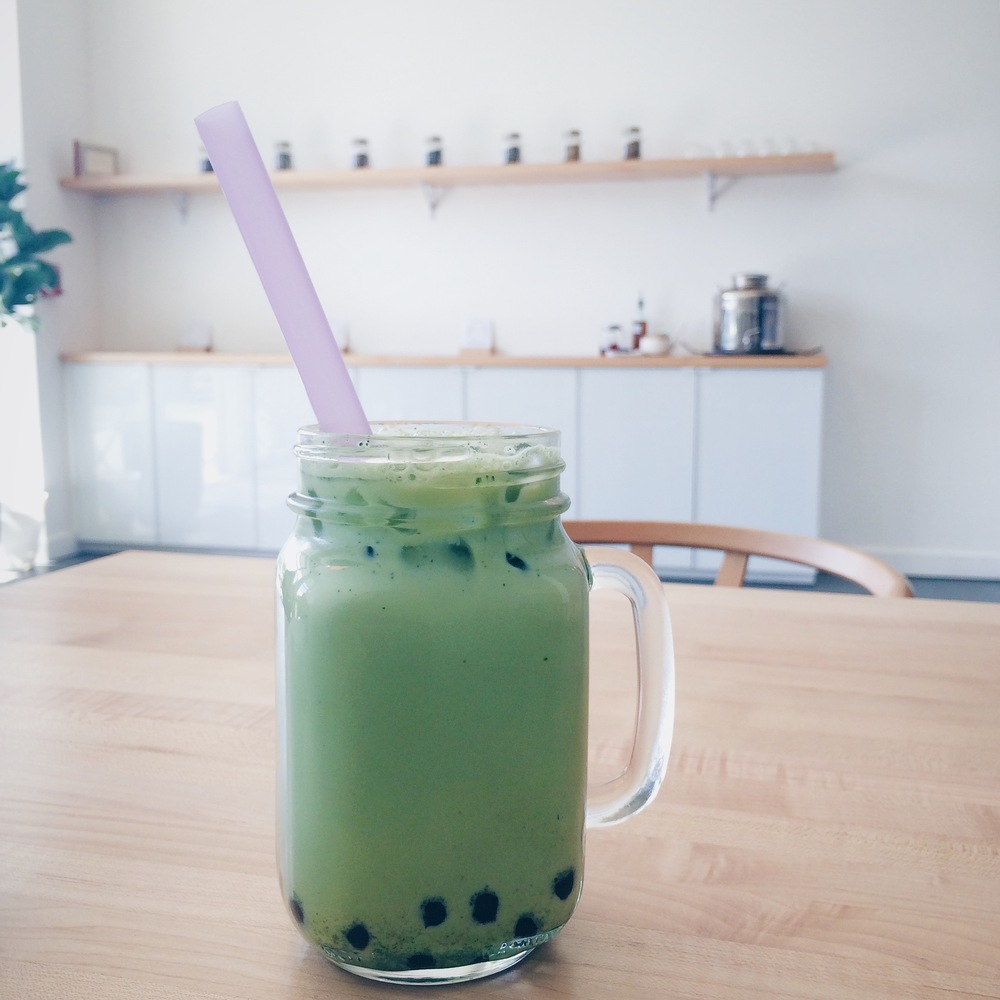 Matcha meets boba at Tea Bar
