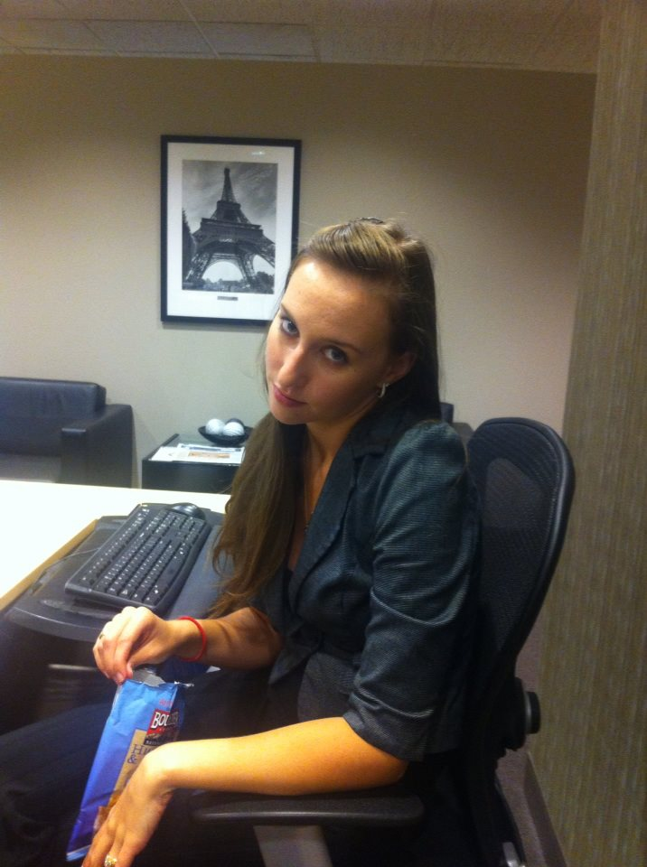 "My coworker captioned this picture ""My coworker Harmony is grumpy today. Stay away!"""