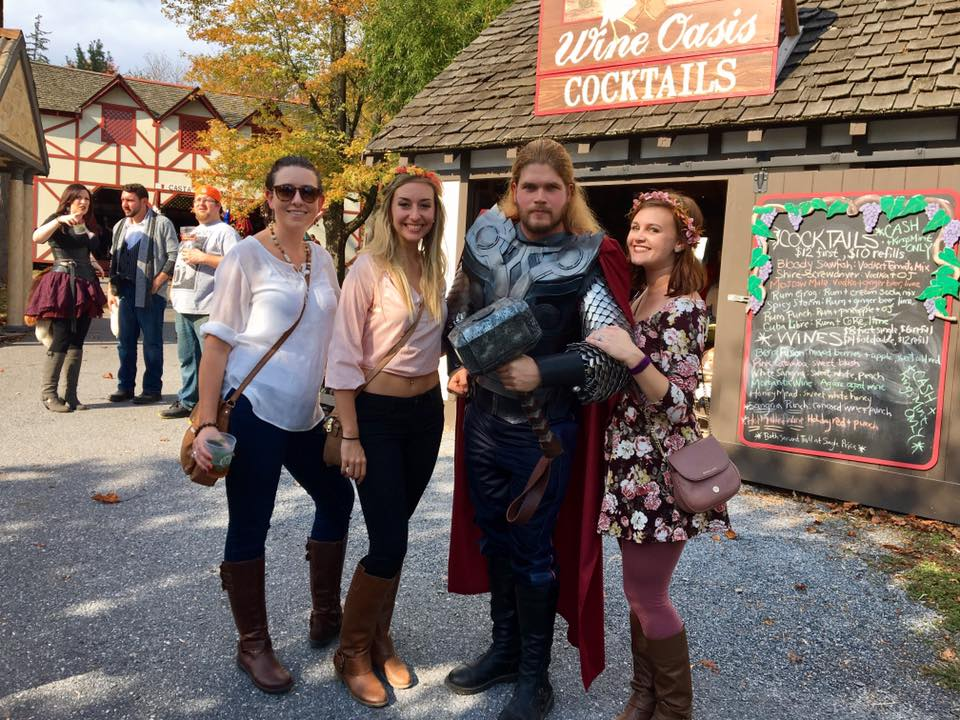 We met Thor at the renaissance festival!