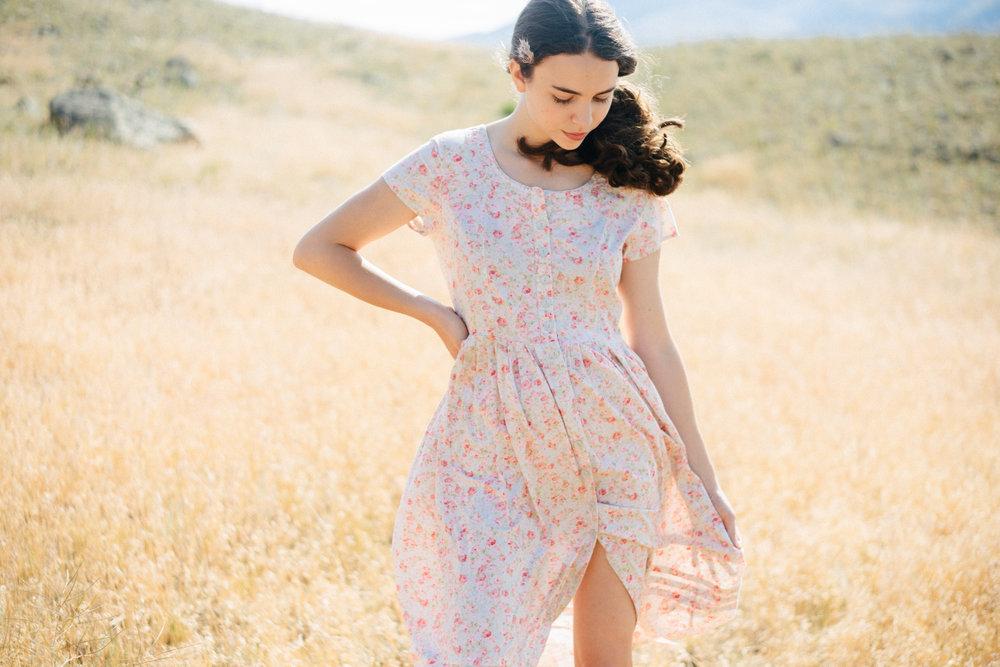 Vintage Garden Rose Dress