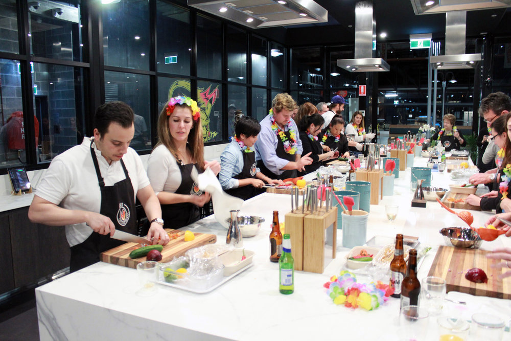 Master Chef Class : Challenge your team in a friendly cooking competition.