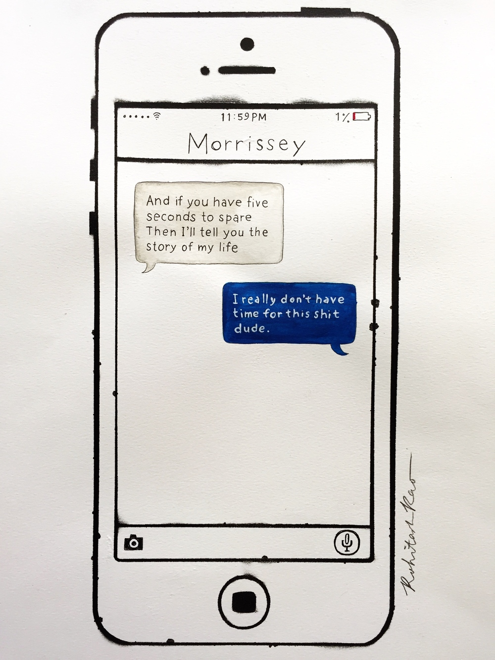 TEXTS FROM MORRISSEY: HALF A PERSON