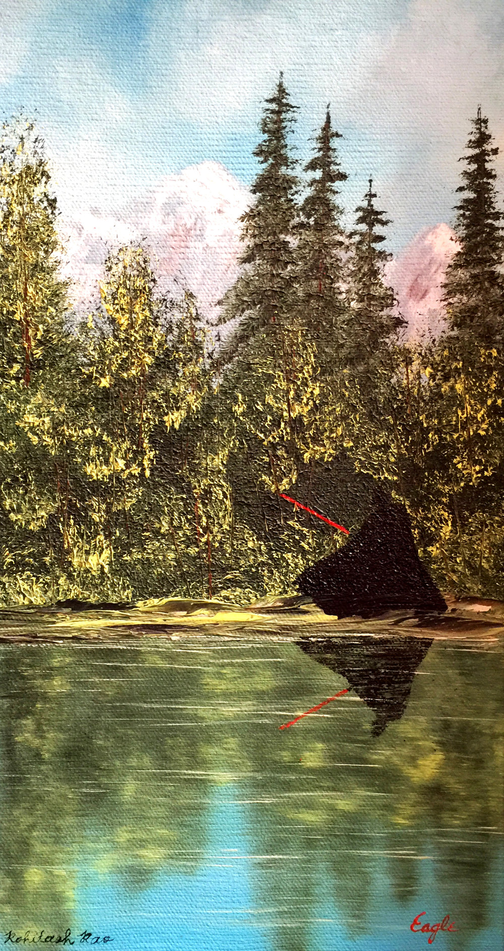 DARTH VADER IN A THRIFT STORE PAINTING (one in a series)