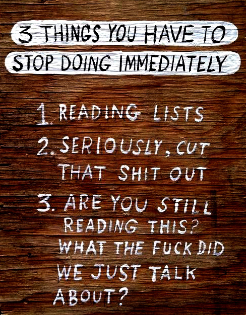3 THINGS YOU HAVE TO STOP DOING IMMEDIATELY