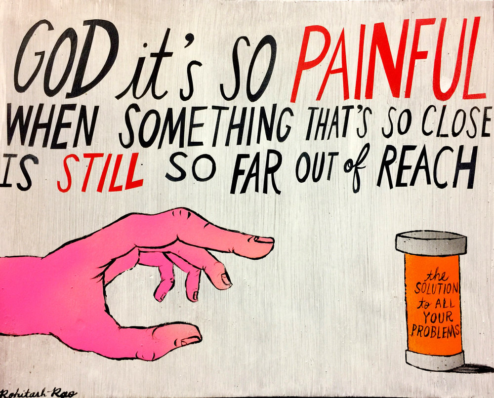 GOD IT'S SO PAINFUL (one of a series of tribute paintings to Tom Petty)