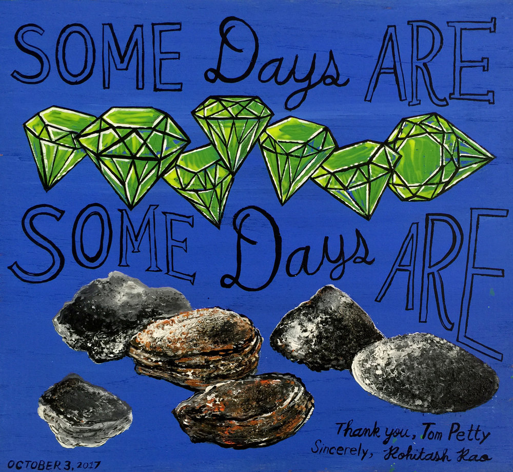 SOME DAYS ARE... (one of a series of tribute paintings to Tom Petty)