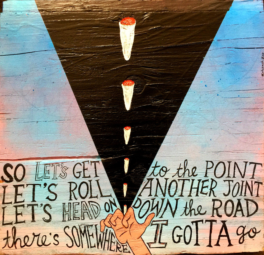 LET'S GET TO THE POINT (one in a series of tribute paintings to Tom Petty)