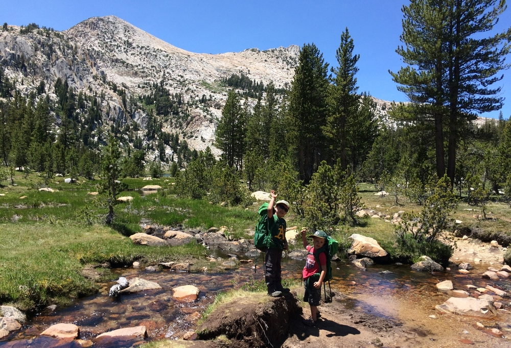 Chasqui Mom Family Camping in Tulolumne Meadows - Hiking to Elizabeth Lake in Yosemite NP - June 2015