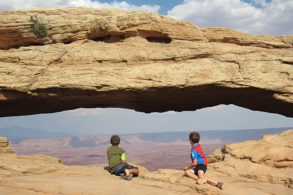 Outdoor Friends for Life! Mesa Arch at Canyon Lands National Park