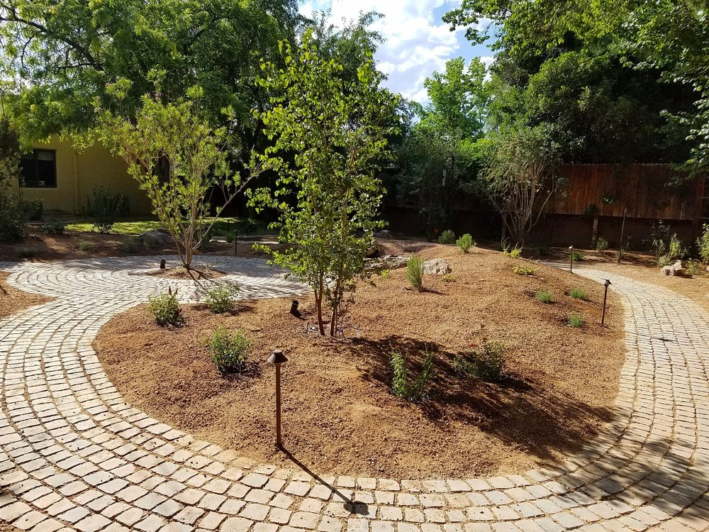One of our latest #designs implemented. This used to be a big, water sucking lawn and now it's a bird/pollinator/turtle paradise for a fraction of the water costs. We teamed up with Amos at ABCWUA to give the client an idea of when this xeriscape conversion would pay for itself through reduced water bills. What a great tool, happy to work with those folks. #southwesthorticulture  #landscaping  #landscapes  #landscapedesign  #horticulture