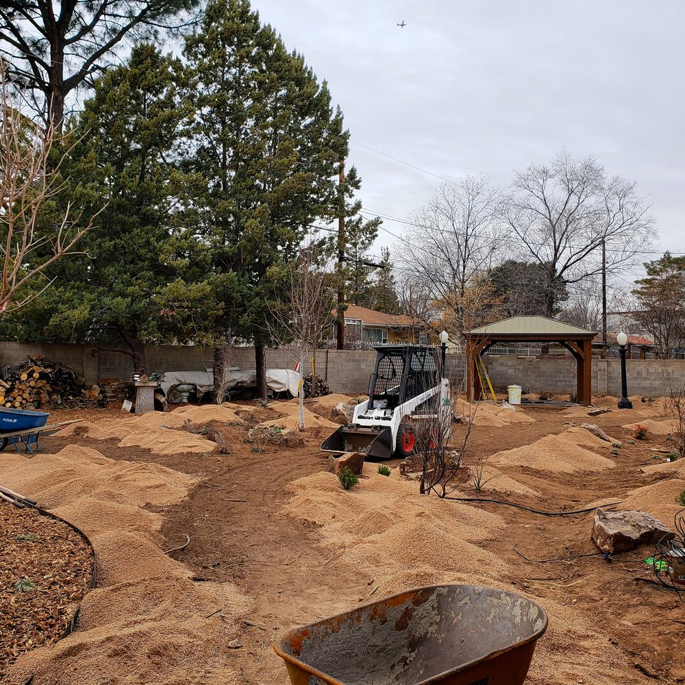 Winter is a great time for landscape construction. Most planting of shrubs and trees can be done at this time as well with the exception of Mediterranean adapted plants and other cold sensitive species.  #southwesthorticulture  #horticulture  #landscapes  #landscaping  #landscapedesign  #nativeplants  #xeriscaping  #xeriscape  #waterconservation  #gardening  #albuquerque  #newmexico