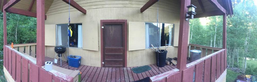 The front of the Cabin.