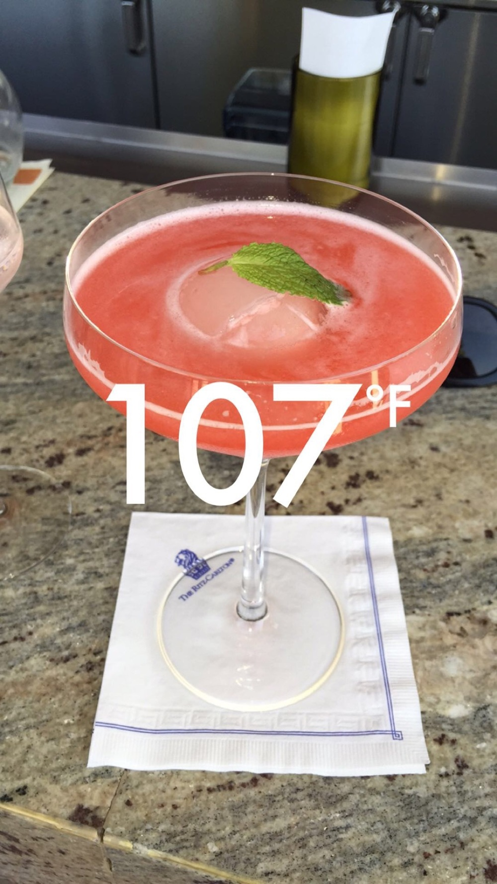 107*, Strawberry specialty cocktail from State Fare bar