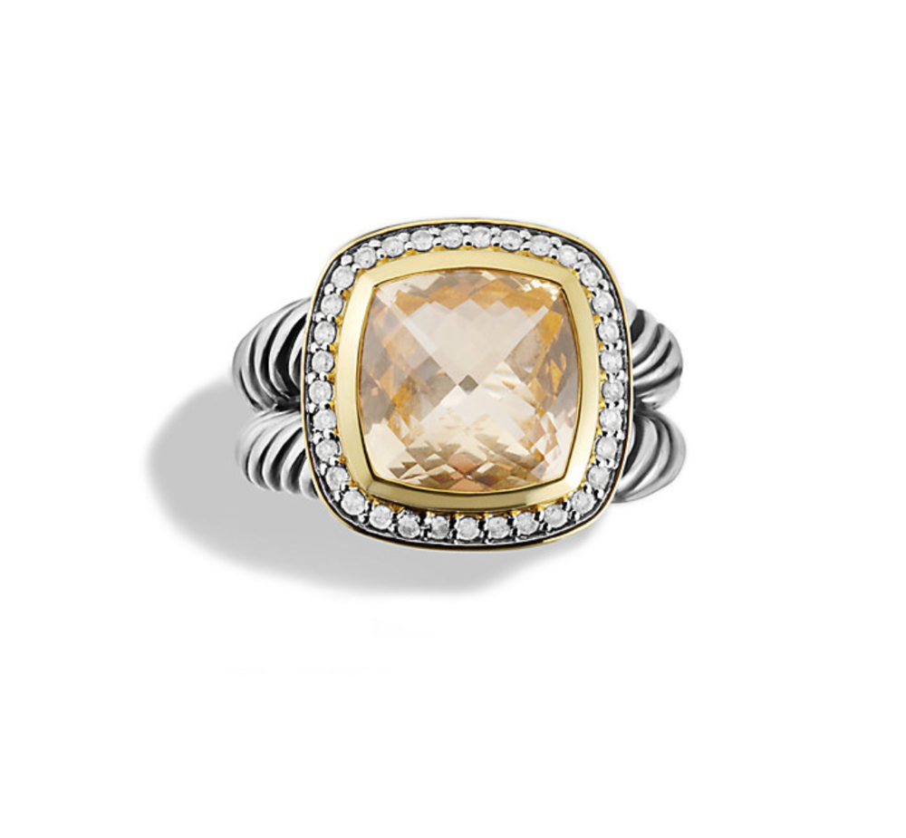 David Yurman Albion Champagne Citrine Cocktail Ring