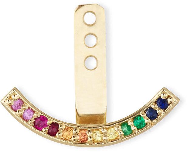 Sydney Evan Rainbow Crescent Earring Jacket, Neiman Marcus, $400