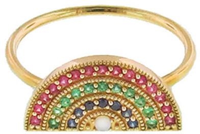 Andrea Fohrman Multicolor Rainbow Ring, Ylang 23
