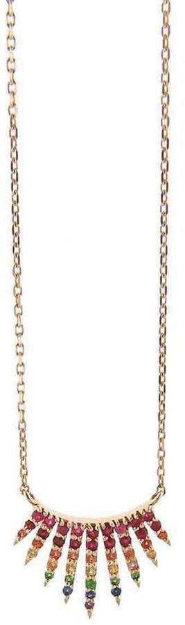Celine D'aoust Sunburst Sapphire Neckace, Ylang 23, $1,145