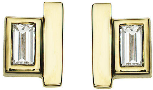 Jemma Wynne 14k Yellow Gold Diamond and Bar Studs, Ylang23, $1365