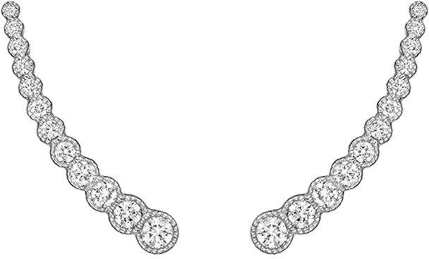 Penny Preville Graduated Diamond Ear Climbers, Neiman Marcus, $3,250
